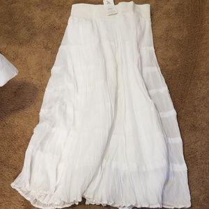 REBA cotton white skirt